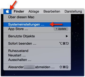 Mac MacBook Systemeinstellungen oeffnen
