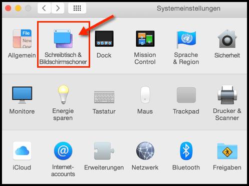 Mac-OS-X-Systemeinstellungen-Bildschirmschoner