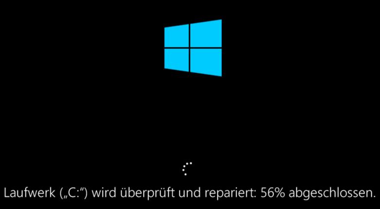 Windows 10 C Laufwerk wird epariert