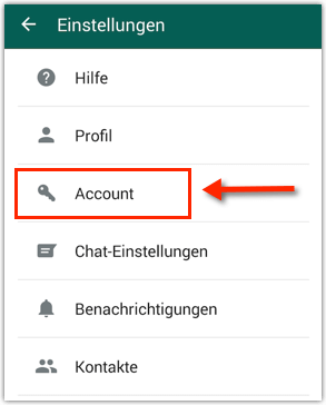 Android WhatsApp Account
