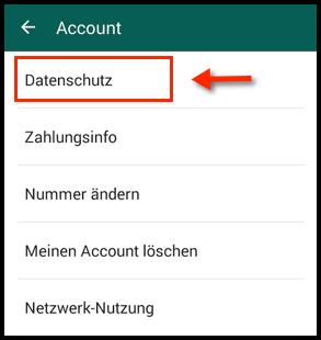 Android WhatsApp Datenschutz