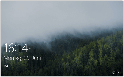 Bildschirmsperre bei Windows 10