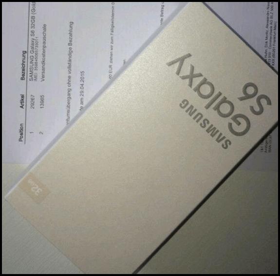 Galaxy S6 Rechnung Betrug
