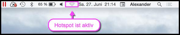 OS X WLAN Hotspot-Symbol