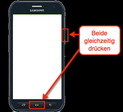 Samsung Galaxy S6 Active Screenshot Tasten