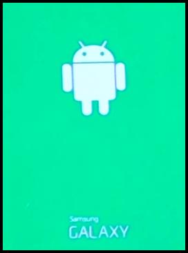 Samsung Galaxy Roboter bei Hard Reset