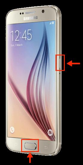 Samsung Galaxy S6 Screenshot-Tasten