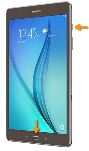 Samsung Galaxy Tab A 9.7 Screenshot Tasten