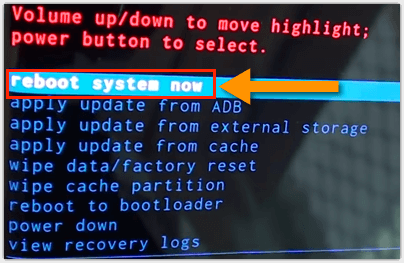 Samsung Reboot System Now