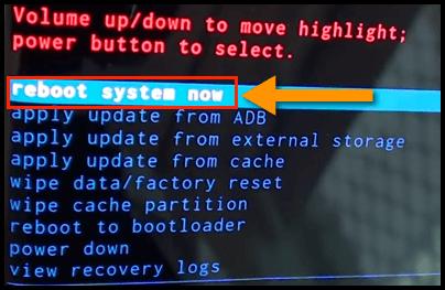 Samsung Reboot System Now