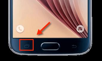 Samsung-Taste für Einstellungen