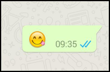 WhatsApp Blaue Haken Lesebestätigung