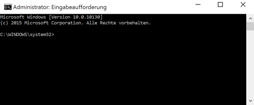 Windows 10 Eingabeaufforderung CMD