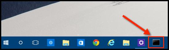 Windows 10 Eingabeaufforderung auf der Taskleiste