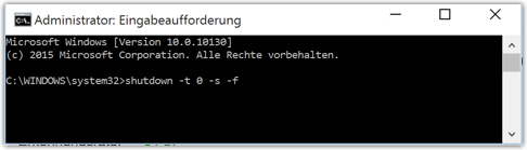 Windows 10 Herunterfahren mit Befehl