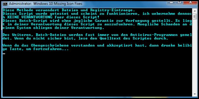 Windows 10 Icon Script