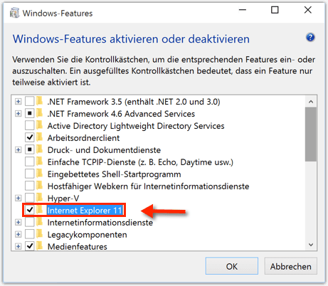 Windows 10 Internet Explorer Deaktivieren