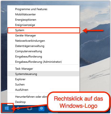 start vergrößern windows 10
