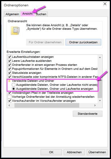 Windows 10 Versteckte Dateien Anzeigen oder Ausblenden