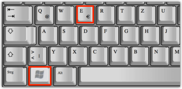 Windows-Taste E Shortcut für Windows