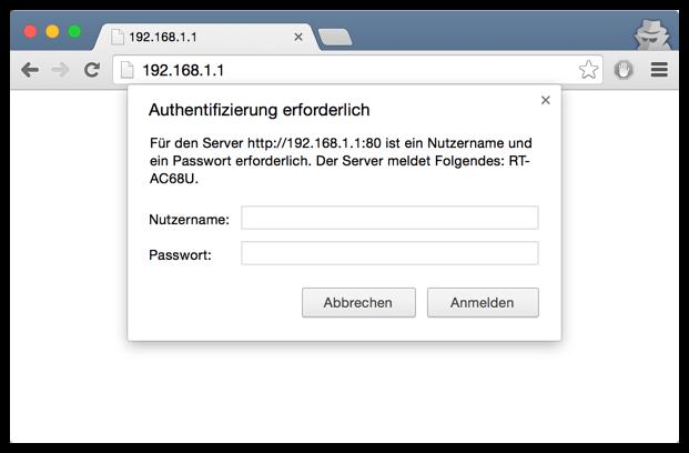 192.168.1.1 ASUS IP