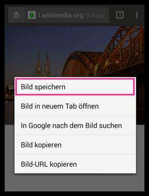 Android Bild aus dem Internet Speichern