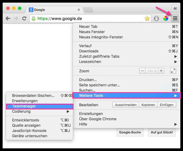 Chrome Taskmanager