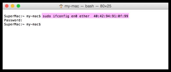 MAC-Adresse beim MacBook ändern
