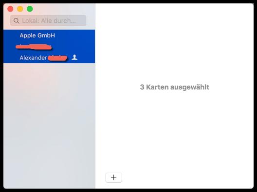 Mac Kontakte Markieren