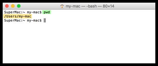 Mac PWD Befehl