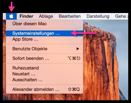 OS X Systemeinstellungen