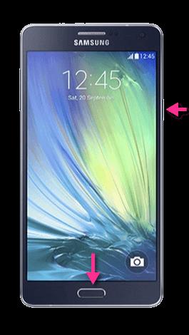 Samsung Galaxy A7 Screenshot Tasten