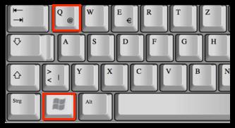 Shortcut Windows-Taste und Q