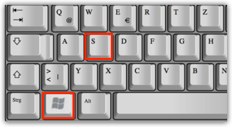 Shortcut Windows-Taste und S