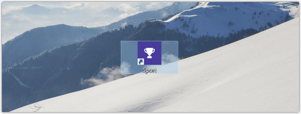 Windows 10 App Verknüpfung auf dem Desktop