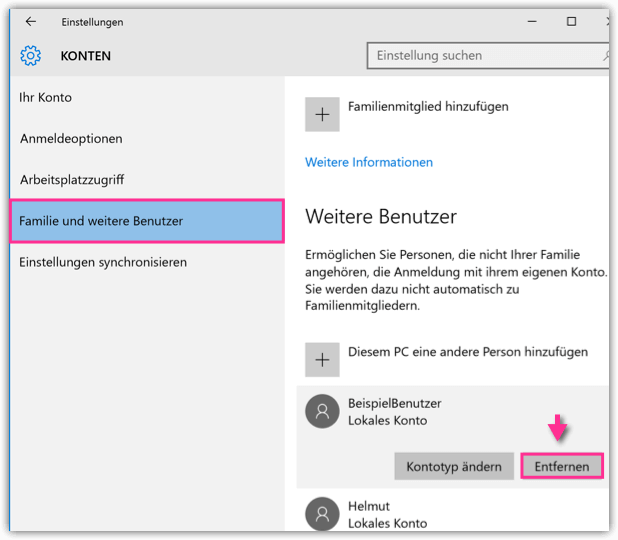 daten bereinigen windows 10