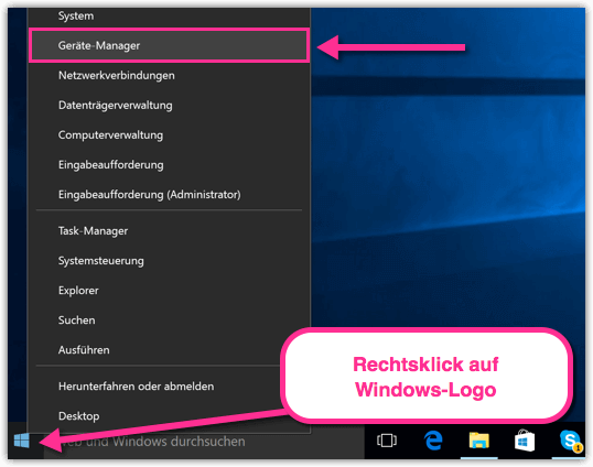Windows 10 Geraete Manager oeffnen