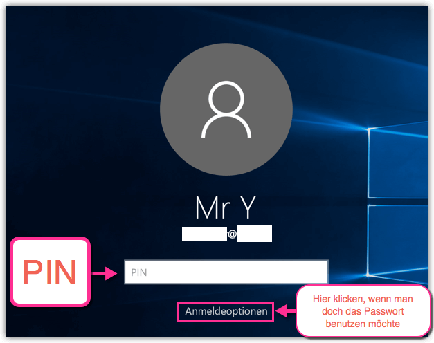 Windows 10 PIN Login