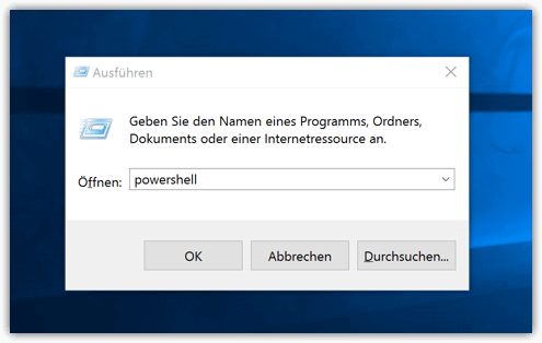 Windows 10 Powershell öffnen