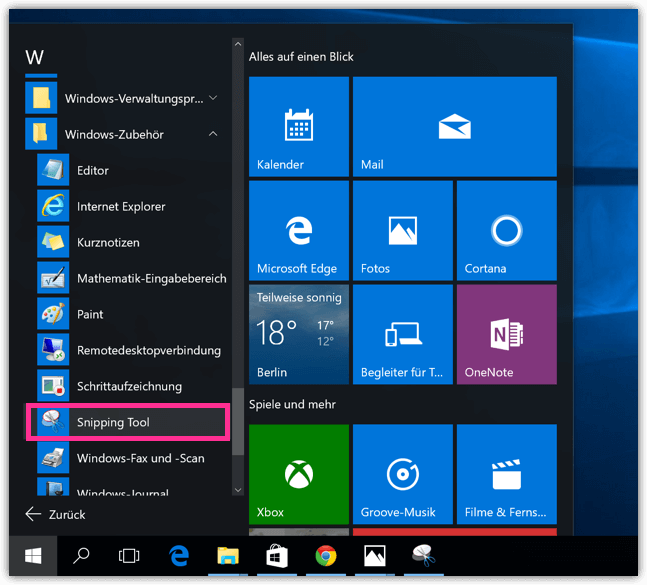 Windows 10 Snipping-Tool