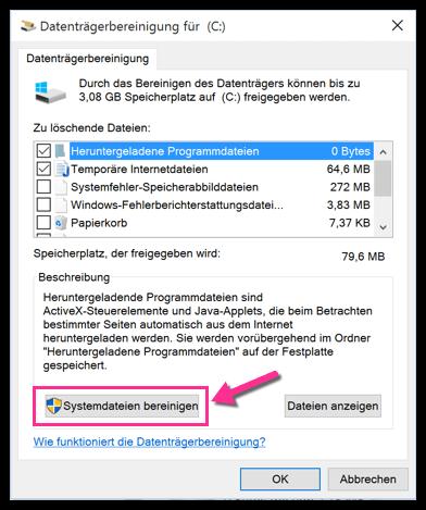 Windows 10 Systemdateien bereinigen