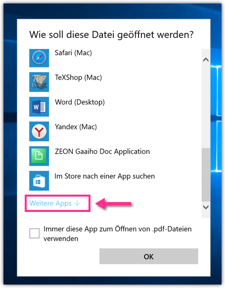 Windows 10 Weitere Apps
