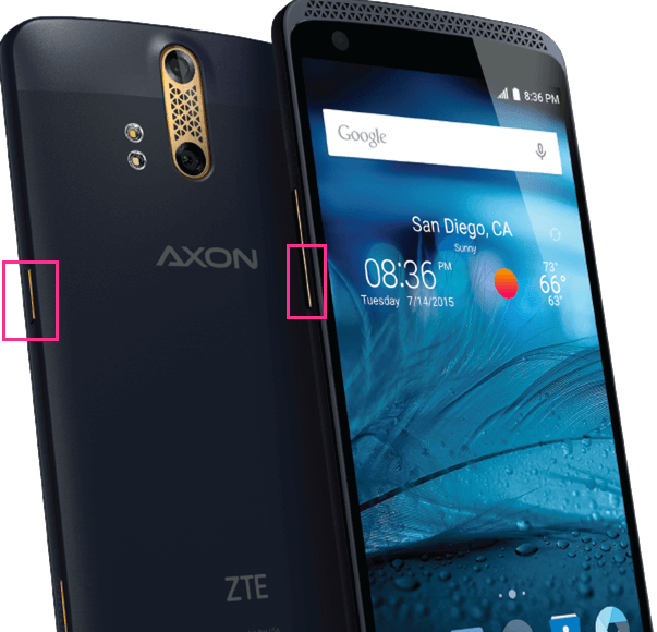 ZTE Axon Screenshot Tasten
