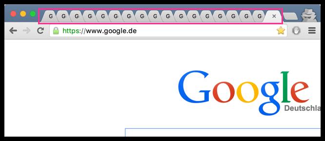 Zu Viele Tabs im Google Chrome Browser