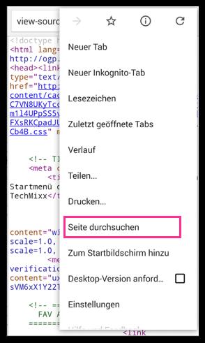 Android Seite Durchsuchen