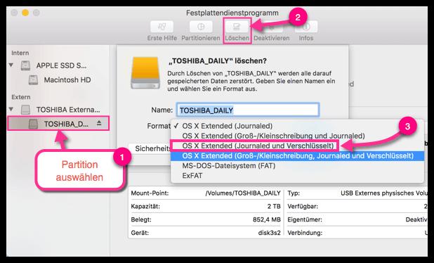 Externe Festplatte Verschlüsseln