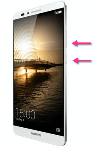 Huawei Ascend Mate 7 Screenshot Tasten