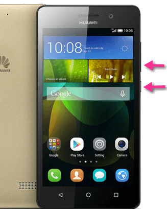 Huawei G Play Mini Screenshot-Tasten