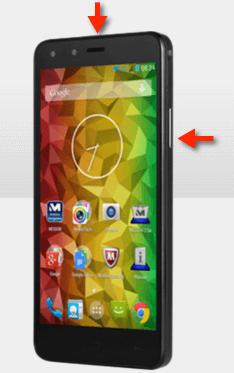 MEDION® LIFE® Smartphone X5001 Screenshot-Tasten
