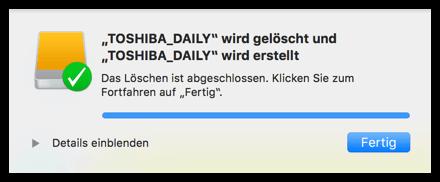 Mac OS X Verschlüsselung ist fertig
